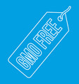 Gmo free label icon outline style
