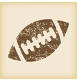 Grungy rugby ball icon vector image