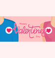 happy valentines day with couple vector image