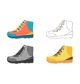 Hiking boot icons vector image