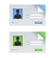 id card or car driver license vector image