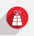 modern gift red circle icon vector image vector image