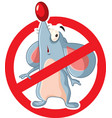 no rats cartoon symbol sign vector image