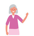 old woman avatar vector image vector image