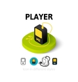 Player icon in different style vector image vector image