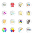 Print process icons set