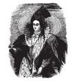 queen elizabeth vintage vector image vector image
