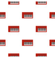red synthesizer pattern seamless vector image vector image