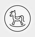 rocking horse toy universal icon vector image