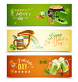 saint patricks day banners set vector image vector image
