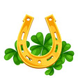 saint patricks day horseshoe with vector image