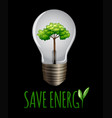 save enegy logo on blackground vector image