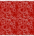 Seamless background with sketchy hearts vector image