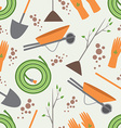 seamless pattern tools for working in garden vector image vector image