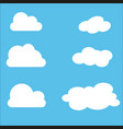 set of cloud icons in trendy flat style isolated vector image