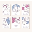 Set of sale tags Hand drawn winter accessories vector image vector image