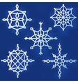 Set of simple snowflakes vector image