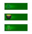 set st patricks day banners vector image