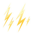 set yellow lightning vector image