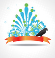 silhouette of bird with beautiful artwork vector image vector image