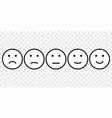 smiley face icon set vector image vector image