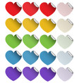 sticker design in heart shapes vector image