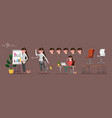stylized characters set for animation vector image