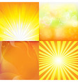 Sunburst Backgrounds vector image vector image