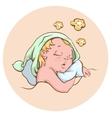 The baby sleeping sweetly vector image vector image