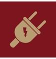 The electric plug icon Electric Plug symbol Flat vector image vector image