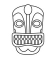tiki idol face icon outline style vector image vector image