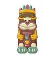 tribal idol icon cartoon style vector image vector image