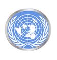 united nations emblem vector image