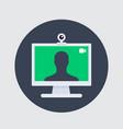 video call icon web camera and desktop vector image vector image