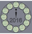 watch dial hands 2015 year calendar vector image vector image