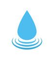 water drop logo droplet symbol vector image