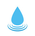 water drop logo water droplet symbol vector image