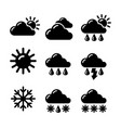 weather report forecas icons vector image