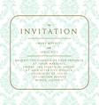 Wedding invitation on damask background vector image vector image