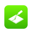 welding torch icon green vector image vector image
