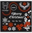 white christmas design elements image vector image vector image