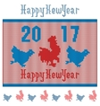 Wool knitting New Year vector image