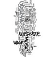 wysiwyg text word cloud concept vector image vector image