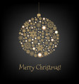 xmas card with christmas ball vector image vector image