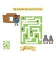 Homework for kids Maze to Help Noah gather vector image