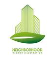 neighborhood vector image