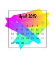 2019 calendar design concept april vector image vector image