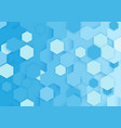 abstract blue and white repeating hexagons vector image vector image