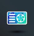 air conditioner icon button logo symbol concept vector image