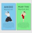 asian martial arts vector image vector image